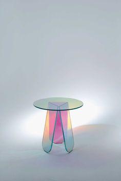 Milantrace 2014 / Glas Italia table | http://www.yellowtrace.com.au/translucent-glass-furniture/