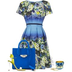 Spring Dress by carolinez1 on Polyvore featuring moda, Balenciaga, YooLa and Topshop