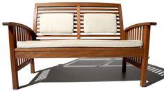 Strathwood Gibranta All-Weather Hardwood 2-Seater Bench - [HOME & GARDEN]