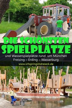 Special playgrounds between Munich, Freising, Erding and Wasserburg - Here you will find a whole collection of extraordinary playgrounds around Munich. Whether water pla - Summer Activities, Family Activities, Toddler Activities, Outdoor Activities, Toddler Playground, Water Playground, Munich, Travel Tips With Toddlers, Vacations To Go