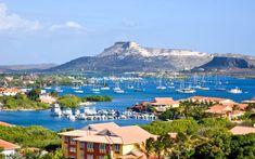 Een mooi overzicht vanuit de Villa op Curacao