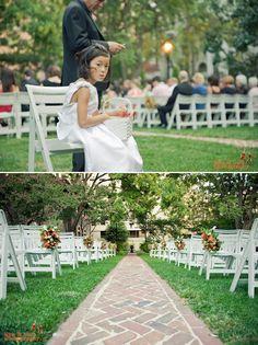 A wedding in our garden.  Beautiful flower girl!