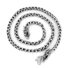 Modern High Quality 925 Sterling Silver Double Dragons Chain Necklace Jewelry Gift For Men