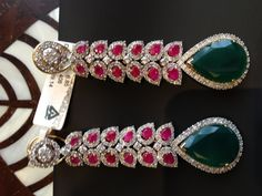 diamond and precious stone earrings - Sitara