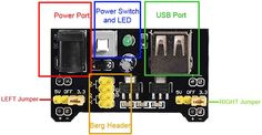 MB102 Breadboard Power Supply Module Overview Power Electronics, Bread Board, Power Led, Easy To Use, Usb