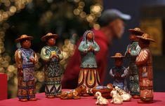 Exposición de Belenes en el centro cultural de la Ciudad de México en 2006. El Belén en México suele representar a las comunidades agrícolas del país