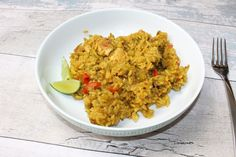 I made Mary Berry's: Panang Chicken & Rice Stir-Fry from her book 'Everyday'.