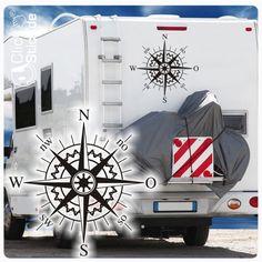 WoMo018 Kompass Rose Wohnmobil Aufkleber Wohnwagen Sticker