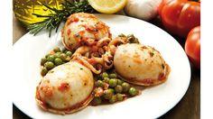 Σουπιές με φρέσκο αρακά & βασιλικό Greek Cooking, Shrimp, Food Porn, Eggs, Yummy Food, Chicken, Meat, Breakfast, Link
