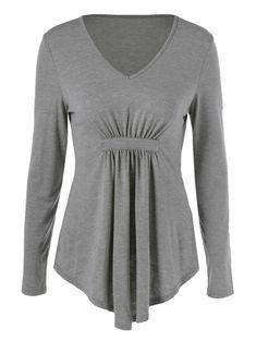 Empire Waist Asymmetrical Flowy T-Shirt