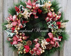 LIBRE de NAVE a 12/12/16 guirnalda de la por NewEnglandWreath