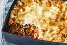 Turn leftover roast pork into this hearty family lasagne. Lasagne Recipes, Pork Recipes, Shrimp Recipes, Pasta Recipes, Recipies, Healthy Recipes, Slow Roast Pork, Roast Lamb, Pork Mushroom