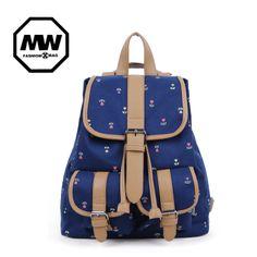 2012 moda mochila de lona bolsa de mensageiro saco fresco pequena fêmea