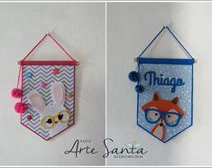 Valentine Crafts For Kids, Baby Crafts, Felt Crafts, Diy And Crafts, Felt Banner, Felt Decorations, Diy Gifts For Boyfriend, Felt Diy, Baby Decor