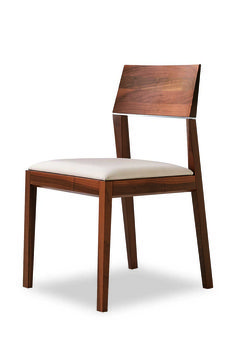 Tendence 140.01 - Chair in beech wood with upholstered seat. Back has matt chrome steel detail.#Chair #Furniture #SandlerSeating #Tendence
