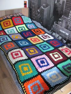 granny blocks blanket