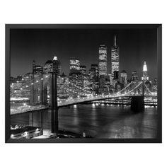 Brooklyn Bridge Framed Print-- Target   for room