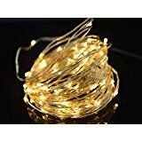 E-Age 50 sets Starry DC 12V Silver Coating 10m/33ft Copper Wire 100 Leds String Lights for Wedding Christmas Party...