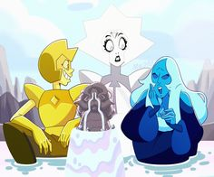 Redraw of my favorite scene from CYM ♡♡♡ Blue Diamond Steven Universe, Perla Steven Universe, Greg Universe, Steven Universe Movie, Universe Art, Funny Pictures Can't Stop Laughing, Lapidot, Manga Anime, Peace And Love
