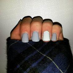 #nailart #nailpolish # #nails #naildesigns #polish #cutenails #nail #nailaddict #scra2ch #grey #white #mint #plaidshirt by sams_awesome_nails