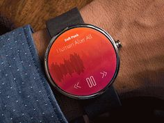 Smart Watch Concept Animation by Steffen Nørgaard Andersen Love the swipe – Electronic is Charge Wearable Device, Wearable Technology, Stylish Watches, Cool Watches, Smartwatch, Mobile Watch, Android Design, Android Wear, Smartphone News