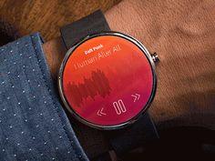 Smart Watch Concept Animation by Steffen Nørgaard Andersen - Love the swipe around to scroll!