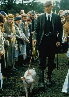 That'll do, James: The actor is best-known for playing Farmer Hoggett in the 1995 movie Babe, the film adaptation of Dick King-Smith's The Sheep-Pig 1995 Movies, Good Movies, Babe 1995, James Cromwell, Sheep Pig, World Book Day Costumes, Baby Cows, Little Pigs, Piglets