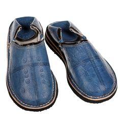 """Bequeme Lederschuhe """"Tafrout"""" jeansblau. www.albena-shop.de"""