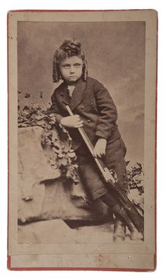 Extremely Rare Photograph of William F. Cody's Son, Kit Carson Cody (1870-1876)