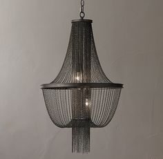 Allegra Empire Chandelier - Gunmetal