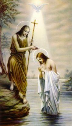Saint John the Baptist & Jesus Christ Religious Pictures, Jesus Pictures, Religious Art, Catholic Saints, Patron Saints, Roman Catholic, Image Jesus, Jesus Christ Images, Jesus Reyes