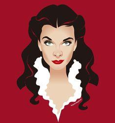 Scarlett O'Hara Gone With the Wind  Vivien Leigh https://www.redbubble.com/people/alemogolloart/shop