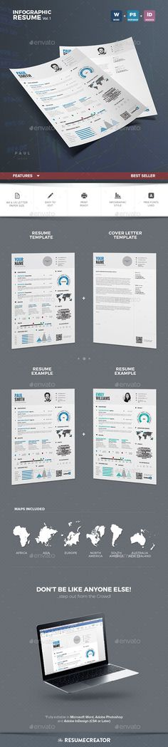 Infographic Resume Vol.1 - Resumes Stationery