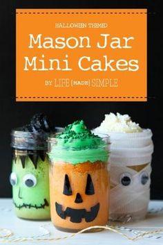 Halloween Mason Jar Cakes by lucia