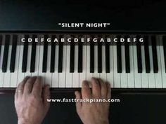 """Silent Night"" Piano lesson for beginners- very good instructions..."