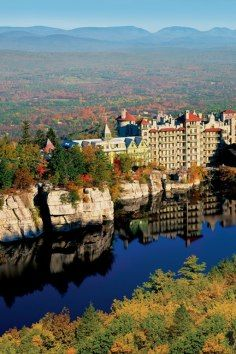 Mohonk Mountain House, a Victorian castle built on spectacular cliff