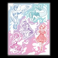 Pastel Monster Girls Sticker