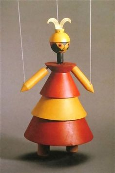 """Sophie Taeuber-Arp """"Dr. Complex"""" Marionette from """"King Stag"""" 1918"""