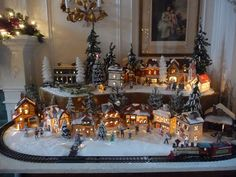 nativity village displays | Steve sets up his village every year. He uses baking powder (the large ...