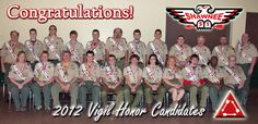 Vigil Honor Candidates 2012