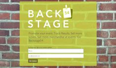 Back Stage Email Submission Landing Page for Mobilitus    www.backstage54.com