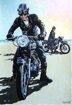 Motorcycle Art UK is an online gallery showcasing the work of professional illustrator Ian Cater Motorcycle Posters, Cafe Racer Motorcycle, Motorcycle Art, Bike Art, Triumph Motorcycles, Cool Motorcycles, Vintage Motorcycles, Motos Vintage, Vintage Bikes