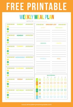 free meal plan template