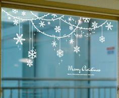 Cheap 1 set window stickers home decoration christmas christmas snowflake . Glass Christmas Balls, Glass Christmas Decorations, Snowflake Decorations, Christmas Snowflakes, Christmas Crafts, Christmas Ornaments, Christmas Christmas, Christmas Window Stickers, Diy Crafts To Do