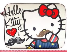 Hello Kitty + Mustache = AMAZING