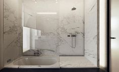 Shower and sunken bath