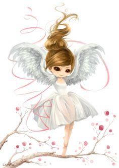 Chibi Angel. This is sort of the kind of things I would know how to draw. :)