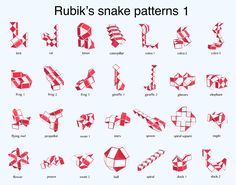 28 shapes that can be made with an original (24-piece) snake