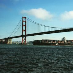 Golden Gate Bridge from the bay.