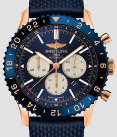 Breitling Chronoliner Watch In Red Gold Gold Watches for men Watch Releases Men's Watches, Breitling Watches, Watches Online, Cool Watches, Fashion Watches, Sport Watches, Best Watches For Men, Amazing Watches, Luxury Watches For Men